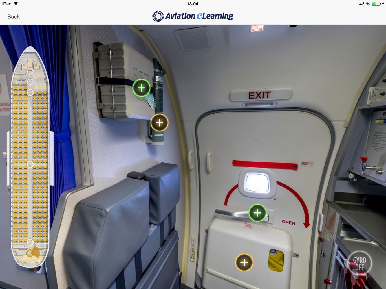 B737 800 Safety Equipment Procedure Trainer Train Before